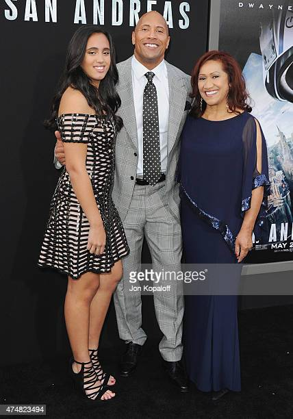 Actor The Rock daughter Alexandra Johnson and mom Ata Johnson arrive at the Premiere Of Warner Bros Pictures' 'San Andreas' at TCL Chinese Theatre on...