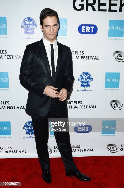 Actor Theo Alexander arrives at the 2013 Los Angeles Greek Film Festival opeing night gala at Writers Guild Theater on June 6 2013 in Beverly Hills...