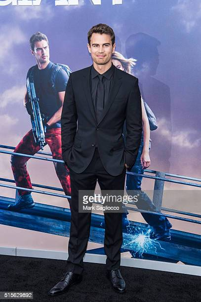 Actor Theo James attends the Allegiant New York Premiere at AMC Loews Lincoln Square 13 theater on March 14 2016 in New York City
