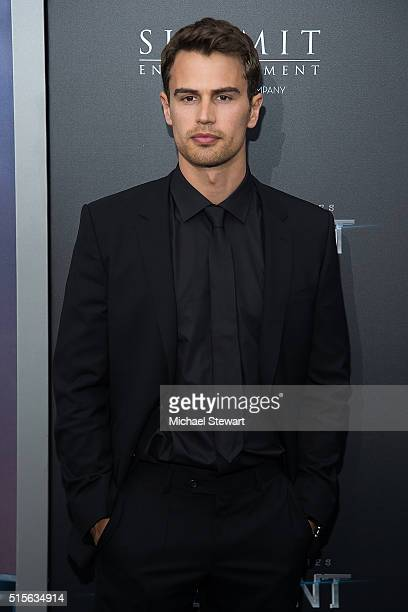 Actor Theo James attends the Allegiant New York premiere at AMC Lincoln Square Theater on March 14 2016 in New York City