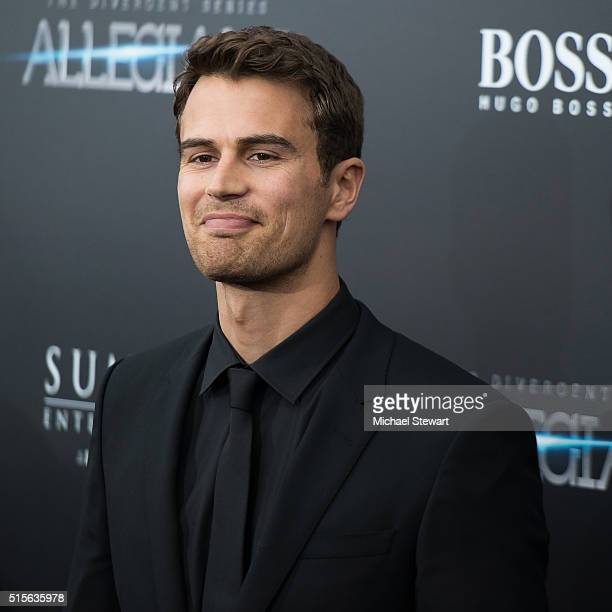 Actor Theo James attends the 'Allegiant' New York premiere at AMC Lincoln Square Theater on March 14 2016 in New York City