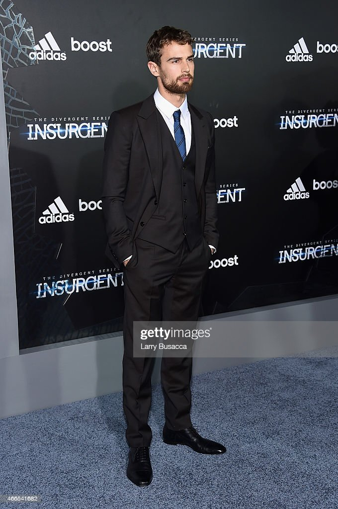 Actor Theo James attends 'The Divergent Series: Insurgent' New York premiere at Ziegfeld Theater on March 16, 2015 in New York City.