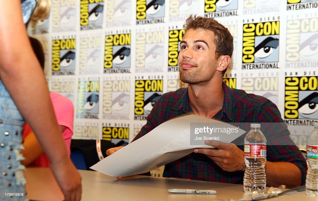 Actor Theo James attends the 'Ender's Game' and 'Divergent' cast autograph signing during Comic-Con International 2013 at San Diego Convention Center on July 18, 2013 in San Diego, California.