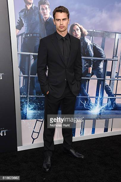 Actor Theo James attends the New York premiere of 'Allegiant' at the AMC Lincoln Square Theater on March 14 2016 in New York City