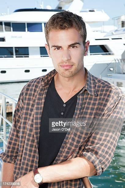 Actor Theo James is photographed at Comic Con for TV Guide Magazine on July 22 2011 in San Diego California