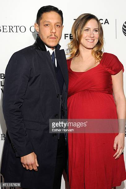 Actor Theo Rossi and Meghan McDermott attend 2015 Tribeca Film Festival Closing Night GoodFellas at Beacon Theatre on April 25 2015 in New York City