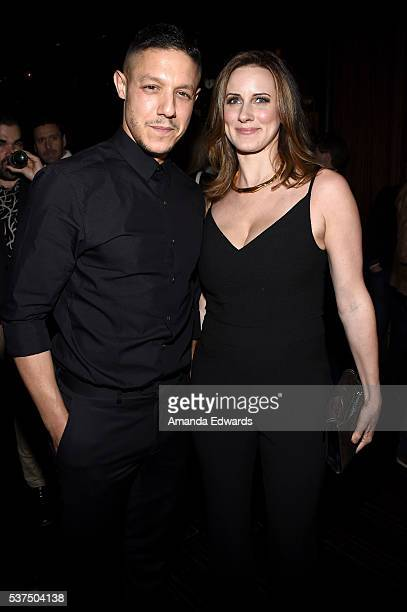 """Actor Theo Rossi and Meghan McDermott attend the after party for the premiere of """"Lowriders"""" during opening night of the 2016 Los Angeles Film..."""