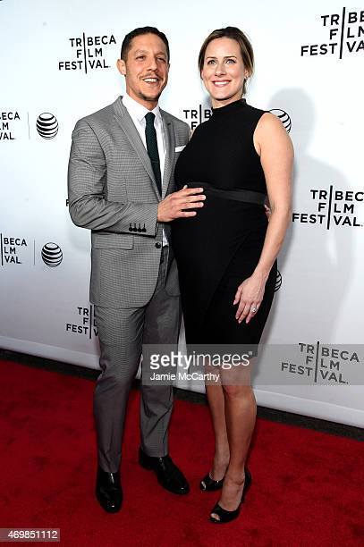 Actor Theo Rossi and Meghan McDermott attend the Opening Night premiere of Live From New York during the 2015 Tribeca Film Festival at the Beacon...