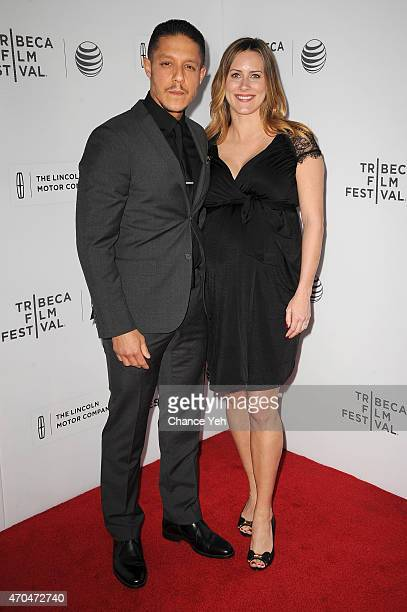 Actor Theo Rossi and wife Meghan McDermott attend the premiere of 'Bad Hurt' during the 2015 Tribeca Film Festival at Regal Battery Park 11 on April...