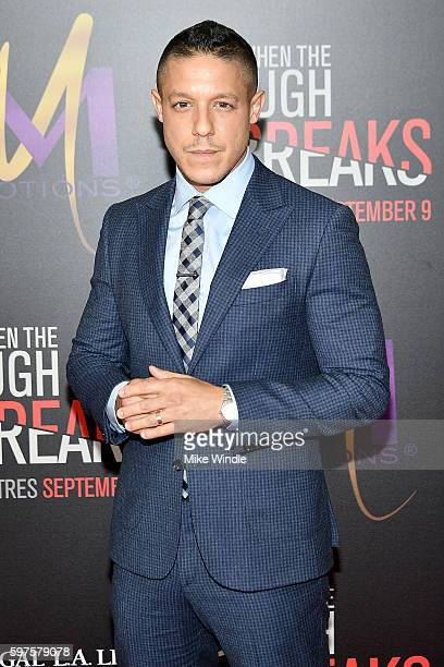Actor Theo Rossi attends the premiere of Sony Pictures Releasing's 'When The Bough Breaks' at Regal LA Live Stadium 14 on August 28 2016 in Los...