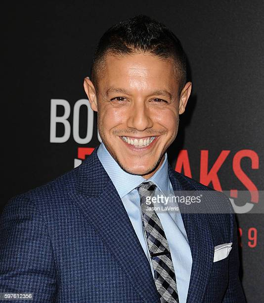 Actor Theo Rossi attends the premiere of 'When the Bough Breaks' at Regal LA Live Stadium 14 on August 28 2016 in Los Angeles California