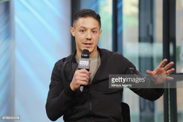 Actor Theo Rossi visits Build Presents to discuss the new film 'Lowriders' at Build Studio on May 2 2017 in New York City