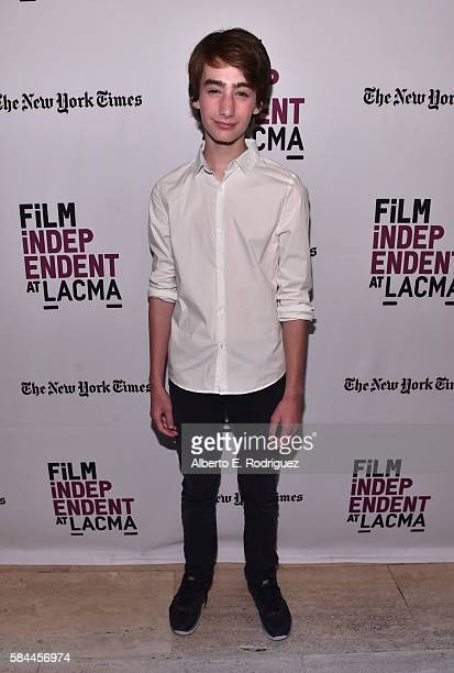Actor Theo Taplitz attends Film Independent at LACMA's Special Screening and QA of Little Men at The Bing Theatre At LACMA on July 28 2016 in Los...