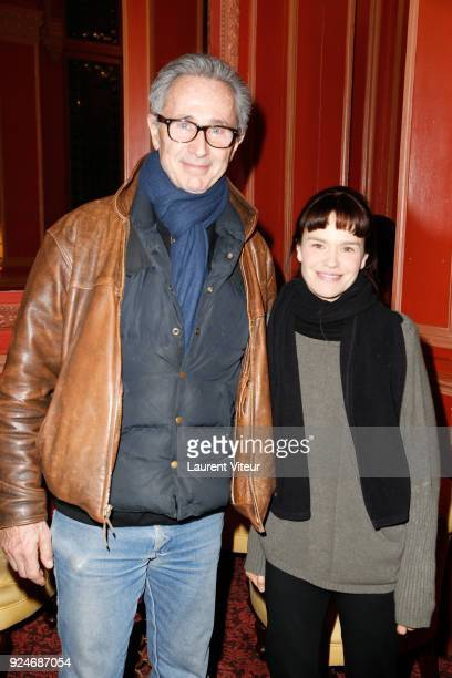 """Actor Thierry Lhermitte and Actress Francoise Gillard attend """"L'Evenement"""" Theater Play during 'Paroles Citoyennes' 10 shows to wonder about the..."""