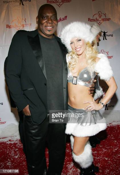 Actor Thom Barry on the Tv show Cold Case and model Shay Lyn pose at the 3rd Annual Bench Warmer Trading Cards Holiday Party and Toy Drive at The...
