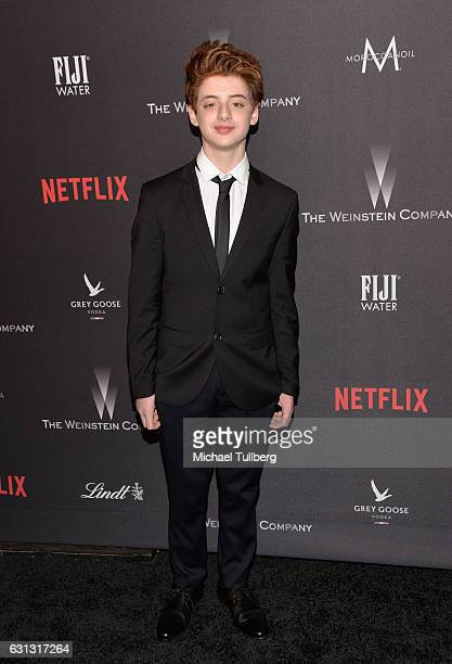 Actor Thomas Barbusca attends The Weinstein Company and Netflix Golden Globe Party on January 8 2017 in Los Angeles California