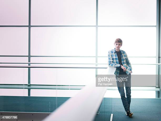 Actor Thomas Brodie Sangster is photographed for the Observer on March 3 2015 in London England