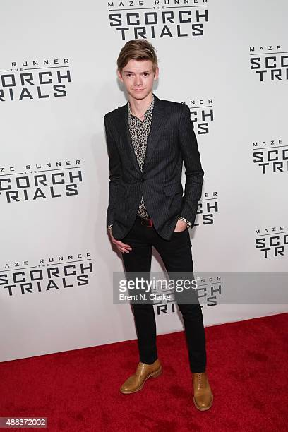 Actor Thomas BrodieSangster arrives at 'Maze Runner The Scorch Trials' New York premiere held at Regal EWalk on September 15 2015 in New York City