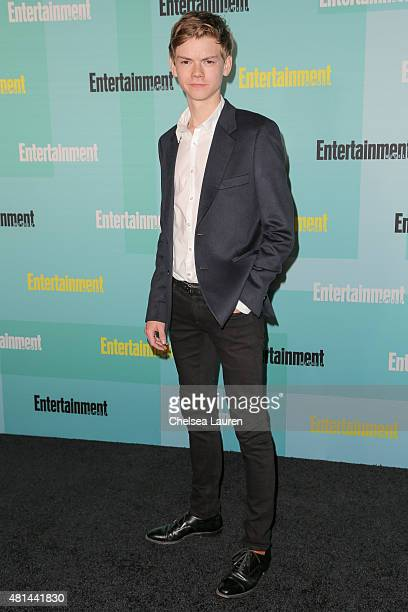 Actor Thomas BrodieSangster arrives at the Entertainment Weekly celebration at Float at Hard Rock Hotel San Diego on July 11 2015 in San Diego...