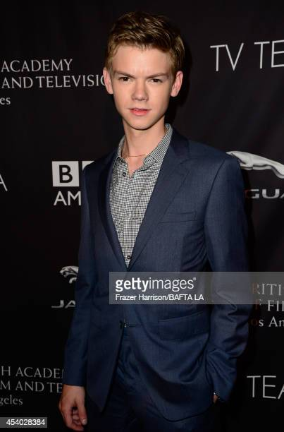 Actor Thomas BrodieSangster attends the 2014 BAFTA Los Angeles TV Tea presented by BBC America And Jaguar at SLS Hotel on August 23 2014 in Beverly...