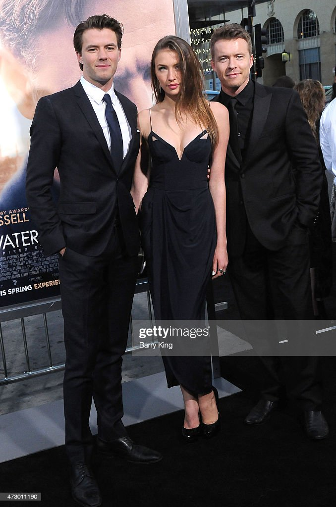 Actor Thomas Cocquerel, Elsa Cocquerel and actor Todd Lasance attend the premiere of 'The Water Diviner' at TCL Chinese Theatre IMAX on April 16, 2015 in Hollywood, California.