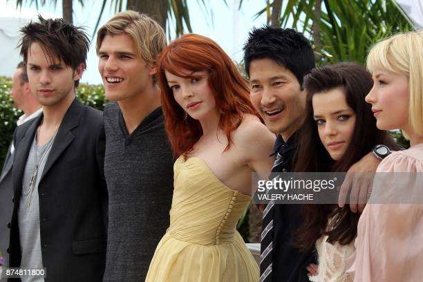 US actor Thomas Dekker actor Chris Zylka French actress Nicole LaLiberte US director Gregg Araki French actress Roxane Mesquida and US actress Haley...