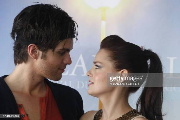 US actor Thomas Dekker and French actress Roxane Mesquida pose during the photocall of the movie 'Kaboom' directed by US Gregg Araki and presented...