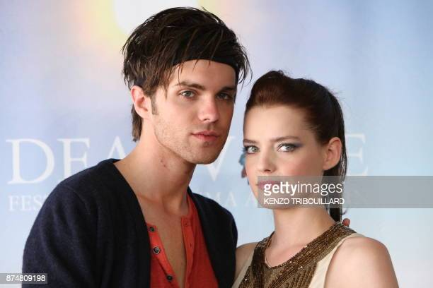 US actor Thomas Dekker and French actress Roxane Mesquida pose during the photocall of the movie 'Kaboom' presented out of competition at the 36th...