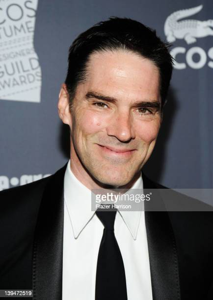 Actor Thomas Gibson arrives at the 14th Annual Costume Designers Guild Awards With Presenting Sponsor Lacoste held at The Beverly Hilton hotel on...
