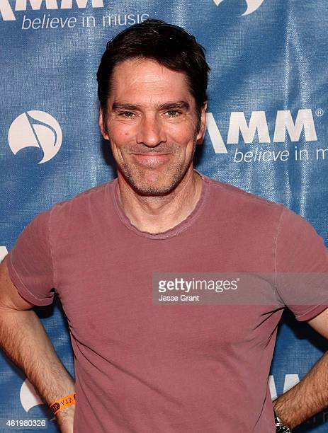 Actor Thomas Gibson attends the 2015 National Association of Music Merchants show at the Anaheim Convention Center on January 22 2015 in Anaheim...