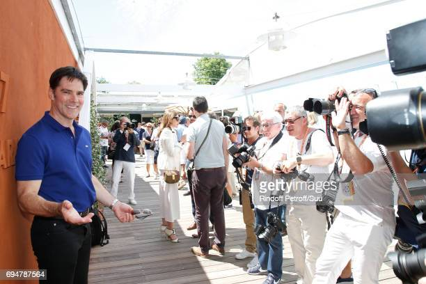 Actor Thomas Gibson attends the Men Final of the 2017 French Tennis Open Day Fithteen at Roland Garros on June 11 2017 in Paris France
