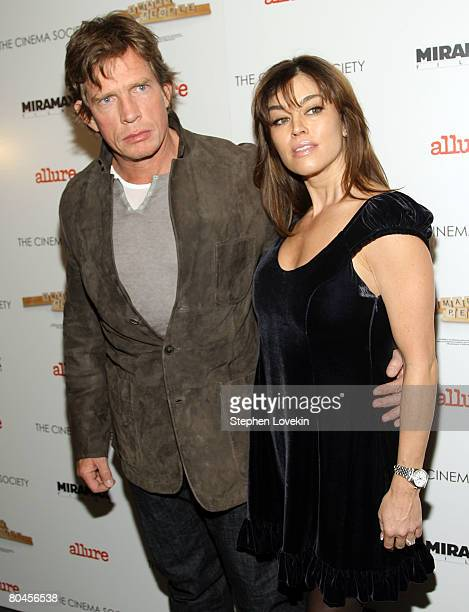 """Actor Thomas Haden Church and wife Mia Zottoli attend """"Smart People"""" screening hosted by the Cinema Society & Linda Wells at the Landmark Sunshine..."""