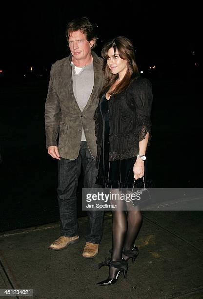 Actor Thomas Haden Church and wife Mia Zottoli Church arrives at the Cinema Society and Linda Wells Host a Screening of Smart People at the Landmark...
