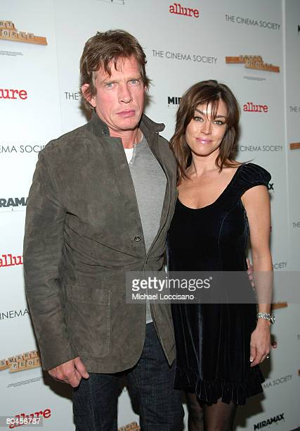 """Actor Thomas Haden Church and wife Mia Zottoli Church attend a screening of """"Smart People"""", hosted by The Cinema Society and Linda Wells, at Landmark..."""
