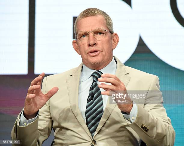 Actor Thomas Haden Church speaks onstage during the 'Divorce' panel discussion at the HBO portion of the 2016 Television Critics Association Summer...
