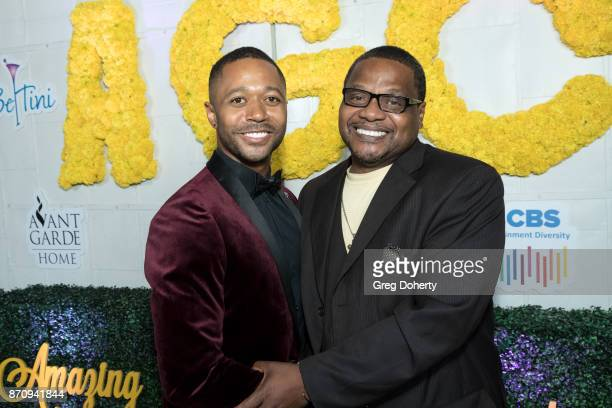 Actor Thomas Hobson and Tony Bracy attend the Wendy Raquel Robinson And Amazing Grace Conservatory's 'There's No Place Like Home' 20th AnniverSoiree...