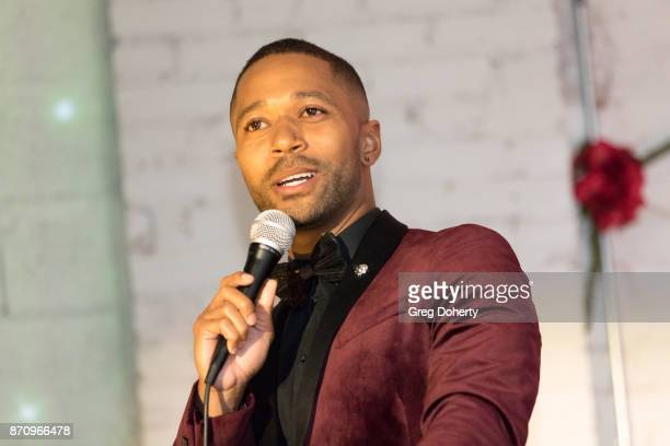 Actor Thomas Hobson introduces the honorees at the Wendy Raquel Robinson And Amazing Grace Conservatory's 'There's No Place Like Home' 20th...
