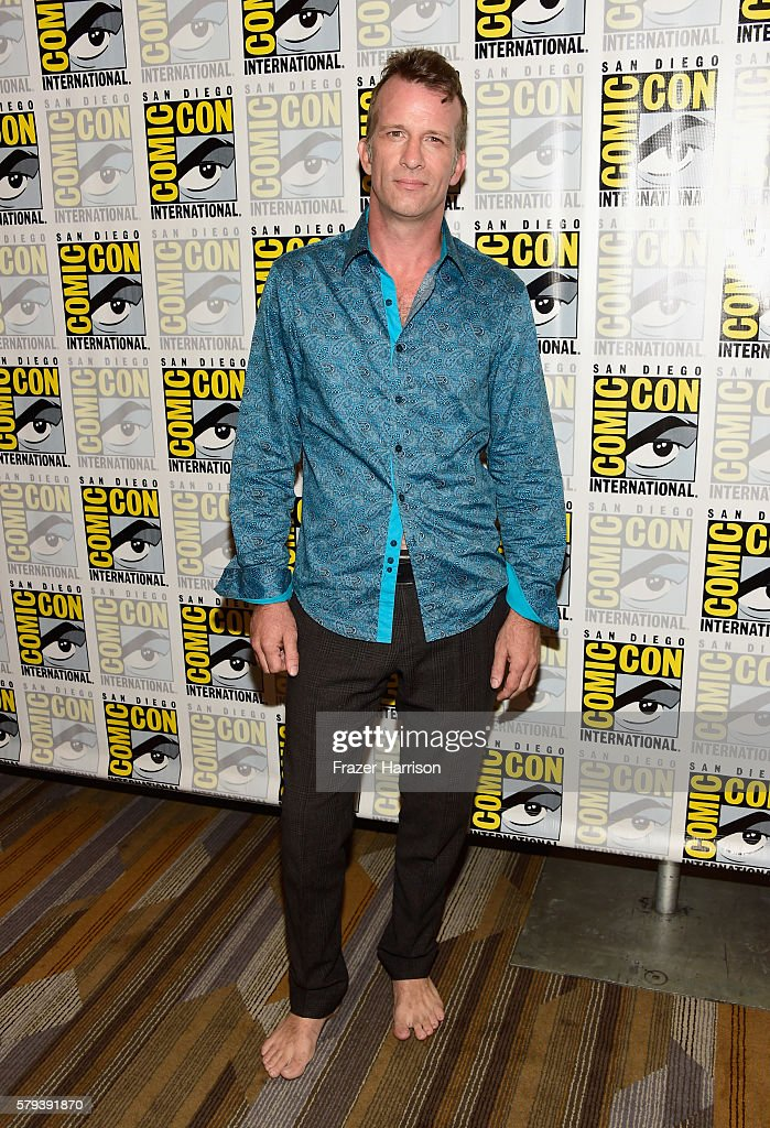 Actor Thomas Jane attends 'The Expanse' press line during Comic-Con International on July 23, 2016 in San Diego, California.