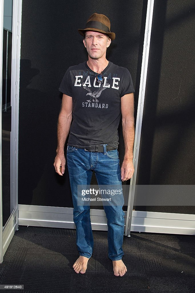 Actor Thomas Jane poses in the press room for 'The Expanse' panel at New York Comic-Con Day 1 at The Jacob K. Javits Convention Center on October 8, 2015 in New York City.