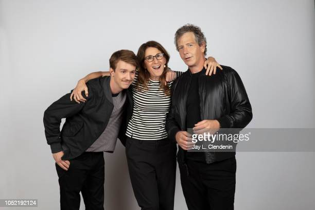 Actor Thomas Mann writer/director Nicole Holofcener and actor Ben Mendelsohn from 'The Land of Steady Habits' are photographed for Los Angeles Times...