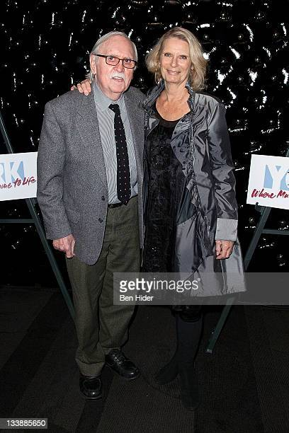 Actor Thomas Meehan and wife Carolyn Meehan attend the 20th Oscar Hammerstein Award gala at The Edison Ballroom on November 21 2011 in New York City