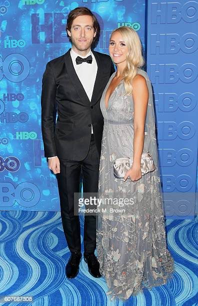Actor Thomas Middleditch and Mollie Gates attend HBO's Official 2016 Emmy After Party at The Plaza at the Pacific Design Center on September 18 2016...