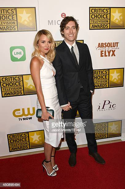 Actor Thomas Middleditch and Mollie Gates attend the 4th Annual Critics' Choice Television Awards at The Beverly Hilton Hotel on June 19 2014 in...