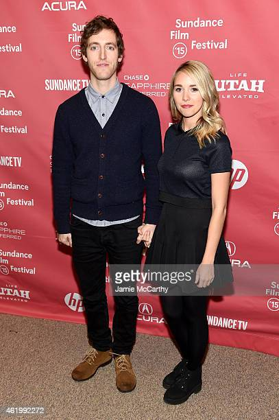 Actor Thomas Middleditch and Mollie Gates attend The Bronze Premiere at the Eccles Center Theatre during the 2015 Sundance Film Festival on January...