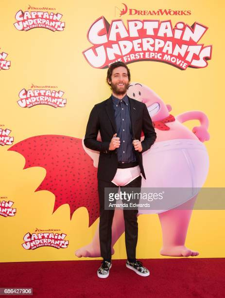 Actor Thomas Middleditch arrives at the premiere of 20th Century Fox's 'Captain Underpants The First Epic Movie' at the Regency Village Theatre on...