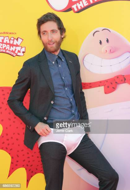 Actor Thomas Middleditch attends the Premiere Of 20th Century Fox's 'Captain Underpants The First Epic Movie' at Regency Village Theatre on May 21...