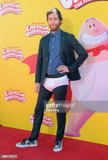 Actor Thomas Middleditch attends the premiere of DreamWorks Animation and 20th Century Fox's 'Captain Underpants' at Regency Village Theatre on May...