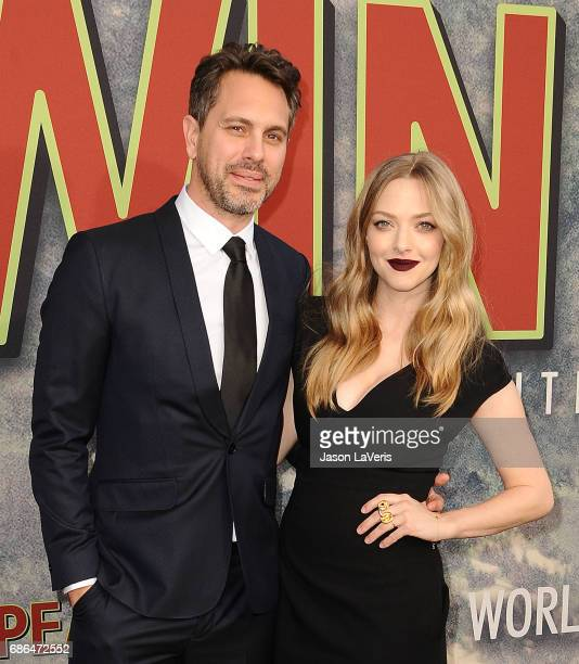 Actor Thomas Sadoski and actress Amanda Seyfried attend the premiere of 'Twin Peaks' at Ace Hotel on May 19 2017 in Los Angeles California