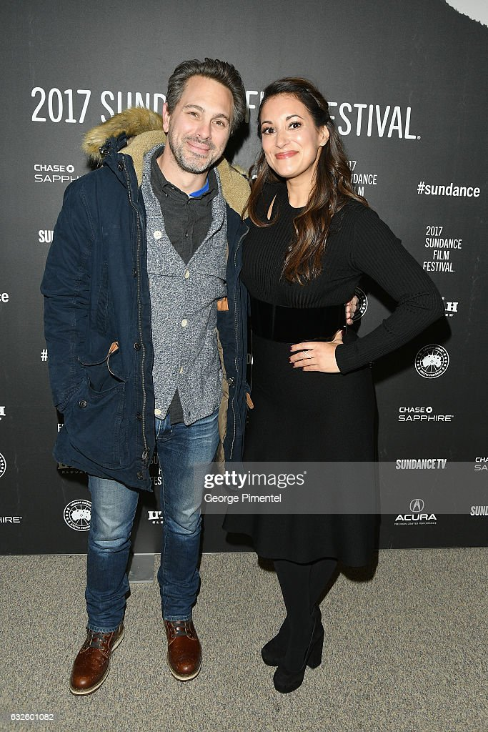 Actor Thomas Sadoski (L) and Actress Angelique Cabral attend the 'Band Aid' Premiere at Eccles Center Theatre on January 24, 2017 in Park City, Utah.