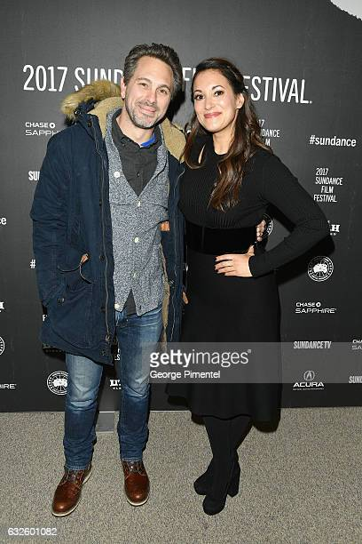 Actor Thomas Sadoski and Actress Angelique Cabral attend the Band Aid Premiere at Eccles Center Theatre on January 24 2017 in Park City Utah